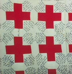Vintage Red Cross Quilt